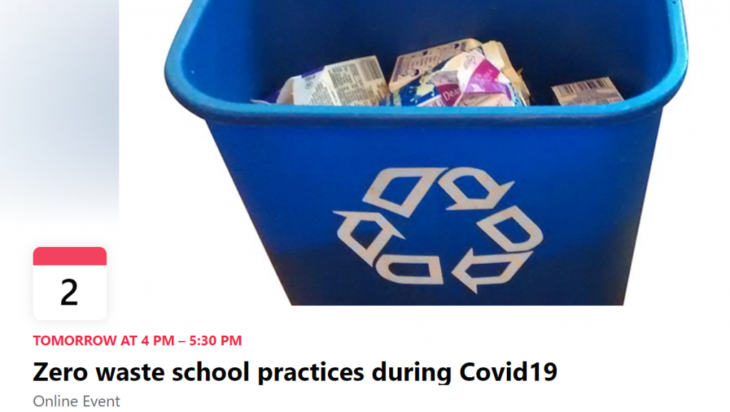 recycling bin with milk cartons inside, screen shot from webinar registration page
